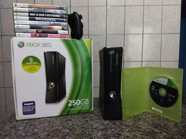 venda Xbox 360 com 25 jogos
