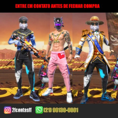CONTA FREE FIRE ANGELICAL FULL PASSE