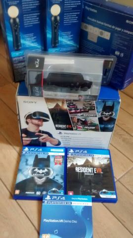 Playstation VR Kit Completo + 3 controles + 3 CD´s