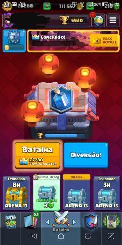 Conta nível 13 Clash Royale