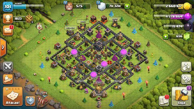 Conta Clash Of Clans Cv9 quase full +660 gemas
