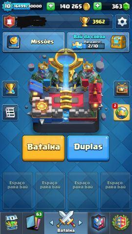 Conta Clash Royale e e Clash of Clans (cv 9 full)