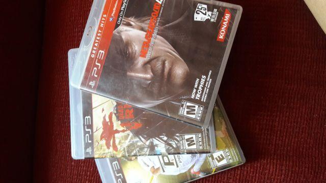 3 Jogos (PS3) Metal Gear Solid, Dead Island e PES