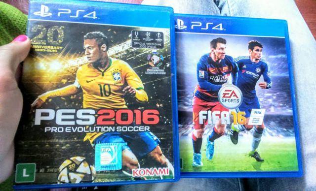 troca PES 16 e FIFA 16 de PlayStation 4