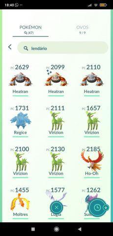 venda Conta de Pokémon Go