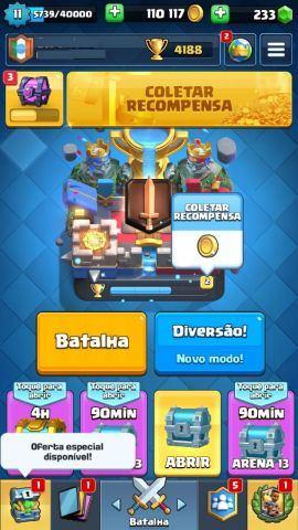 Conta Clash Royale