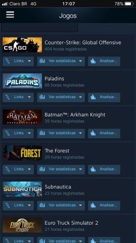 conta steam com jogos tops