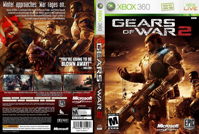 venda Xbox 360 Gears of War 2 ( Retrocompatível )