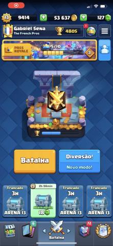 venda Conta Clash Royale
