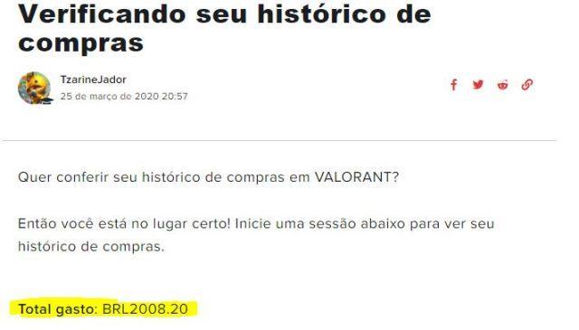 CONTA VALORANT - 5 FACAS