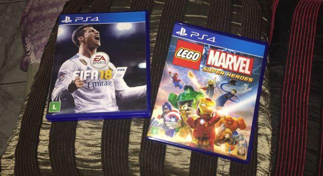 FIFA 18, GOD OF WAR 3, LEGO MARVEL SUPER HERDES