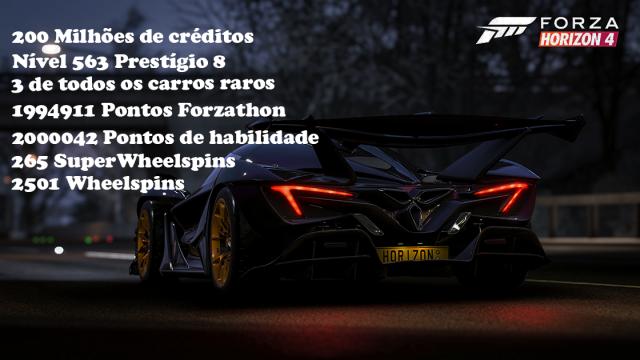 Conta Forza Horizon 4 (sem o jogo)