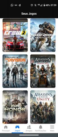 venda Conta Uplay 10 games