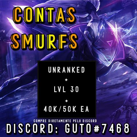 Conta smurf League of Legends LOL