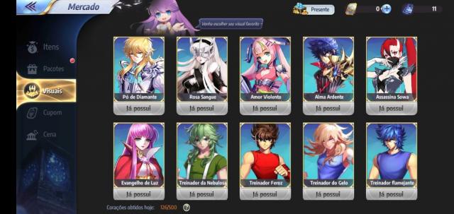 Desapego Games - Conta Saint Seiya Awakening lv58 A-59 - Android