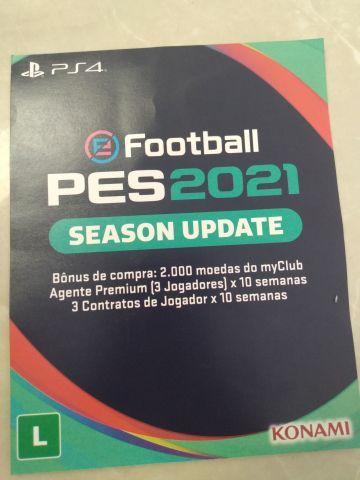 venda codigo de 12 digito pes 2021 season update