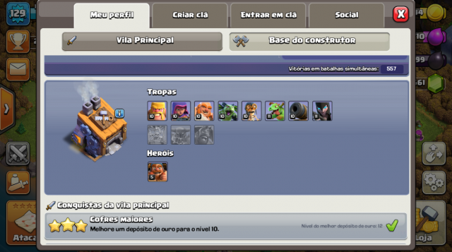 Desapego Games - Conta Clash Of Clans CV10/CV11 - GameCube, iOS (iPhone/iPad), Mobile, Android