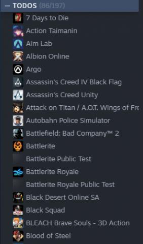 Conta Steam com vários jogos