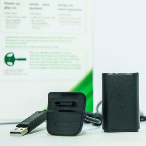 Carregador e Bateria Controle Xbox 360