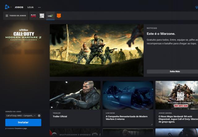 venda Conta Blizzard MW+MW2 Remaster