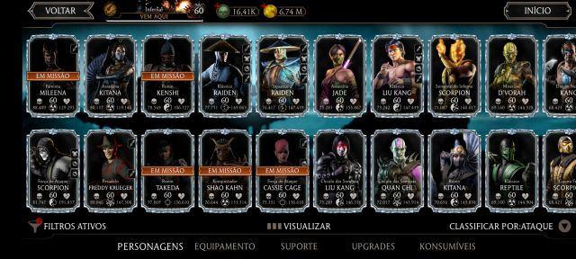 venda Conta Mortal Kombat Mobile