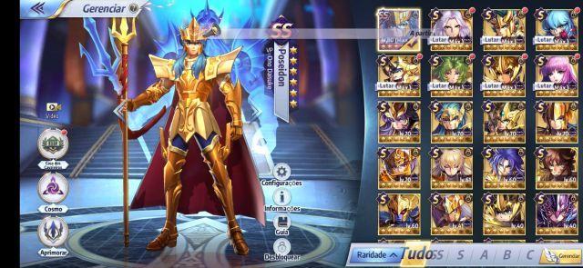venda Conta level 52 de Saint Seiya Awakening