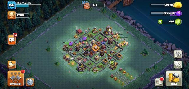 Conta Clash Of Clans Cv 11 80% Full