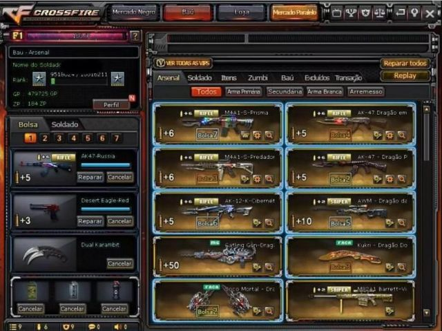 venda Conta Crossfire 11 Vips/Mns/KD Positivo