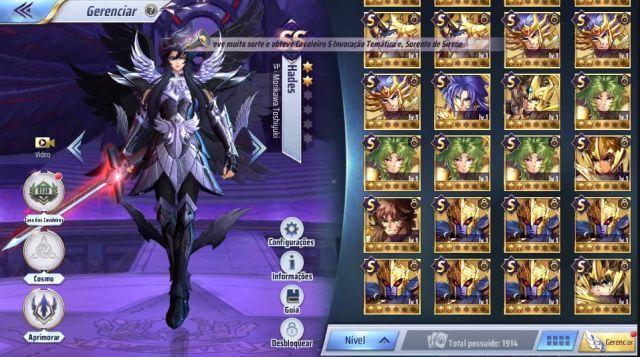 venda Conta Saint Seiya Awakening A1-Pegasus