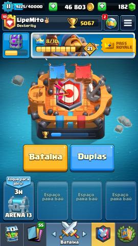 Conta clash Royale xp 11 com quase todas cartas