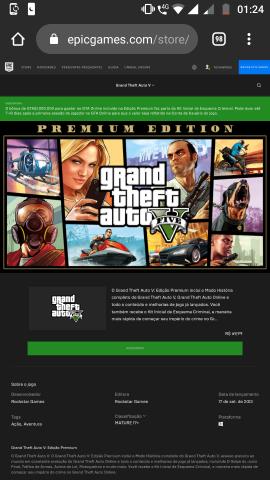 venda Conta da epic com GTA v, ark, civilization VI e +