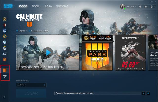 Conta Battle.net com 2 jogos.