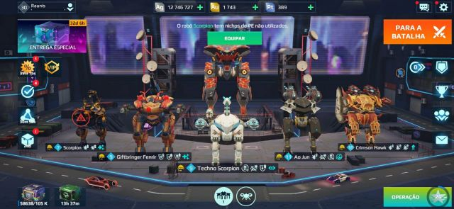 venda Conta War Robots