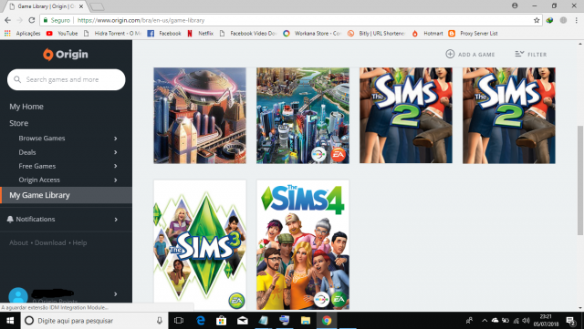 Vendo Conta Origin Com The Sims 4, The Sims 2 e 3