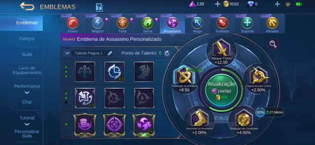 Conta Mobile Legends - Lv. 28(Celestial)