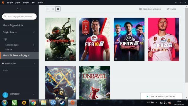 venda Conta Origin com FIFA 20