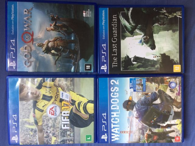 troca God Of War,Watch Dogs,Fifa 17,The Last Guardian,