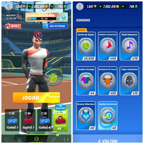 venda Conta jogo Tennis Clash para iOS