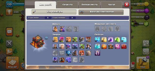 venda Conta de clash of clans