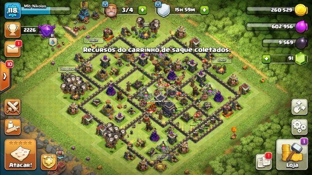 venda Conta Clash of clans Cv 9 quase full
