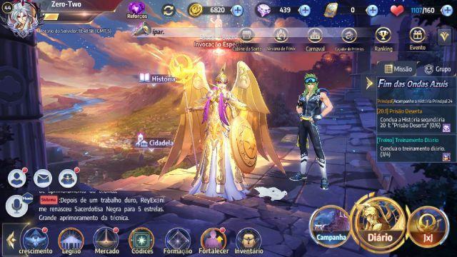 venda Conta Saint Seiya Awakening c/ Saga Maligno
