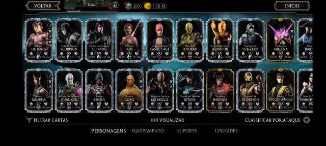 venda Conta Mortal Kombat x mobile!