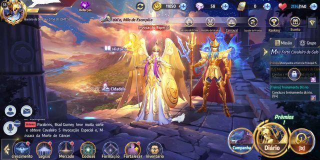 venda Conta Saint Seiya awakening global