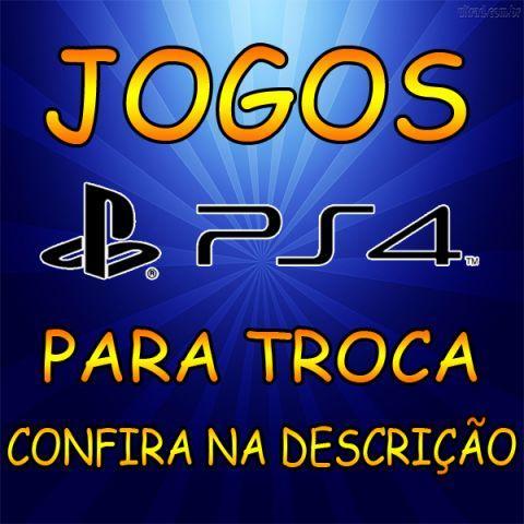 Vários jogos de PS4 para troca