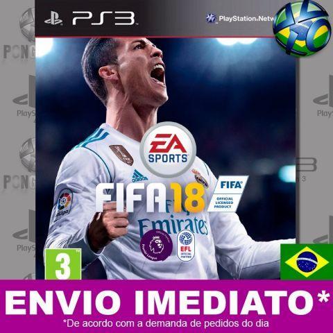 venda Fifa 18 Ps3 Completo Dublado Em Português - Mídia