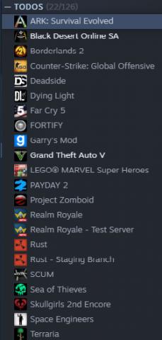 Conta  steam com muitos jogos