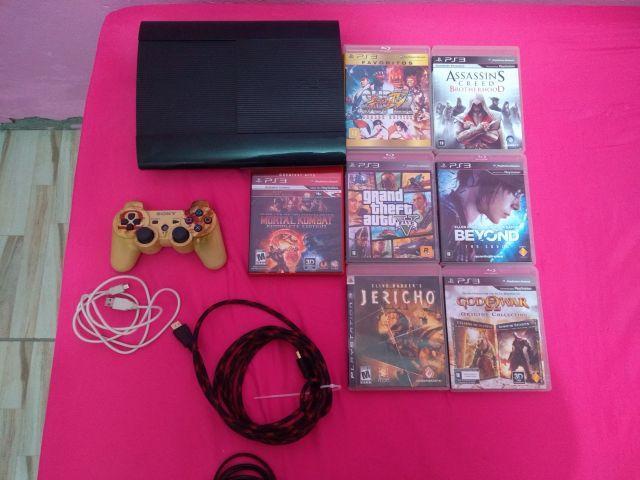 venda Playstation 3 com 22 jogos