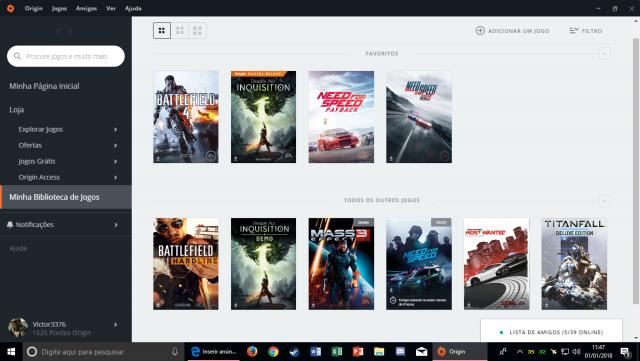 venda Conta Origin com 7 jogos comprados