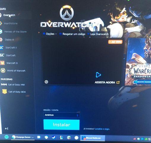 Conta Battle.net com COD:MW e OVERWATCH
