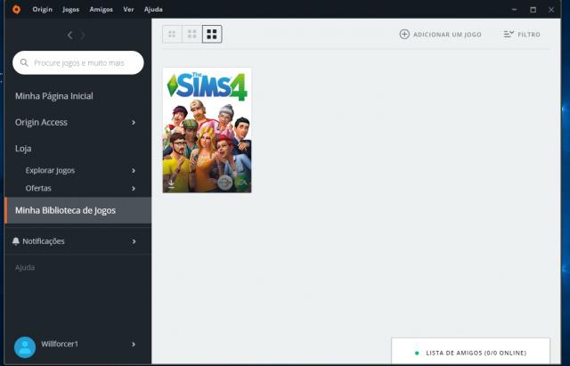 Conta origin The Sims 4